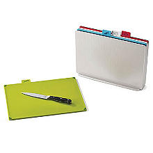Joseph Joseph Index Chopping Board Set Large Silver