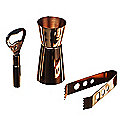 Just Slate Copper Drinks Accessory Set