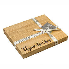 Just Slate Scottish Oak Etched Thyme to Chop Chopping Board