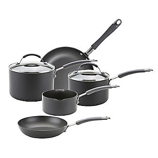 Meyer Hard Anodised 5-Piece Induction Pan Set