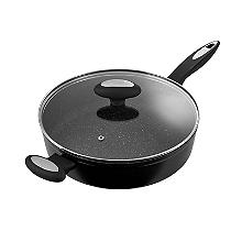 Zyliss Forged Aluminium Non-Stick 28cm Sauté Pan with Glass Lid