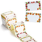 76 Traditionelle Marmeladenglas-Etiketten in 4 Designs