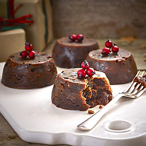 4 Individual Luxury Plum Puddings