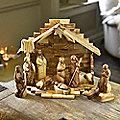 12-Piece Olive Wood Nativity Set