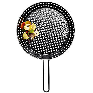 Barbecue Perforated Frying Pan - 30cm alt image 1
