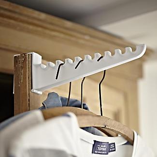 2 Over Door Plastic Ironing Hooks - Holds 10 Hangers alt image 2