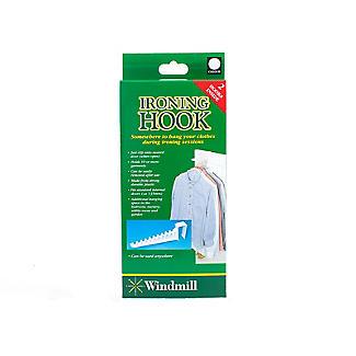 2 Over Door Plastic Ironing Hooks - Holds 10 Hangers alt image 3