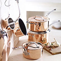 Copper Tri-Ply Pans Range