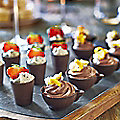 Dark Chocolate Cups