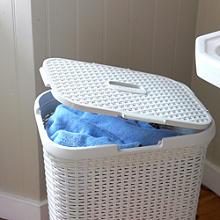 Faux Rattan Laundry Baskets