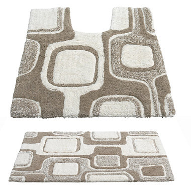 Abstract Bathroom Mats