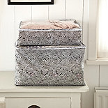 Black & White Paisley Storage