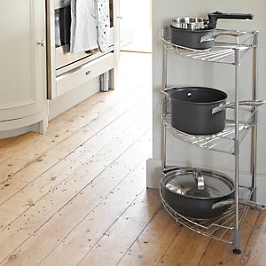 Stainless Steel Curved Shelf Units