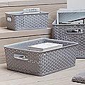 Faux Rattan Storage Baskets