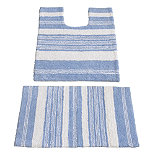 Sea Stripe Bathroom Mats