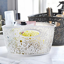 Lace Effect Storage Tubs