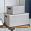 Lidded Lattice-Effect Baskets