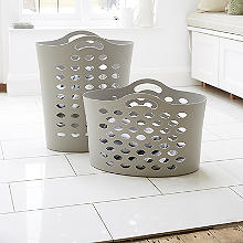 Flexible Cappuccino Laundry Baskets