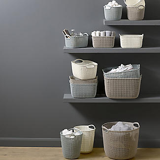 Knit-Effect Baskets and Tubs Storage Range