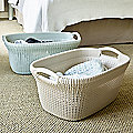 Knit-Effect Laundry Baskets