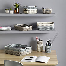 Knit-Effect Trays and Pots Storage Range