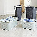 Rotho Lattice-Effect Laundry Baskets and Hampers