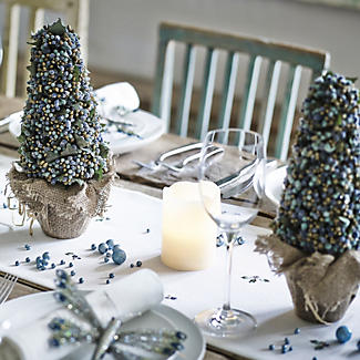 Frosted Berry Topiary Decorations