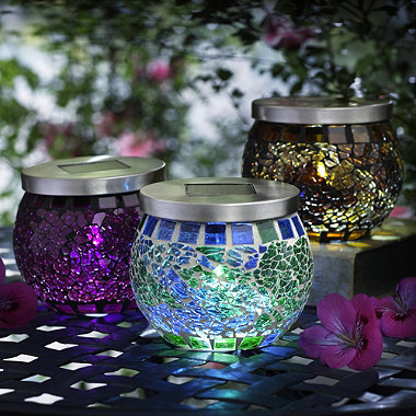 Mosaic Solar Lights in garden lighting and ornaments at Lakeland
