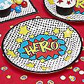 Comic Superhero Partyware
