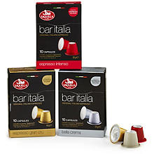 Saquella Bar Italia Coffee Pods Range
