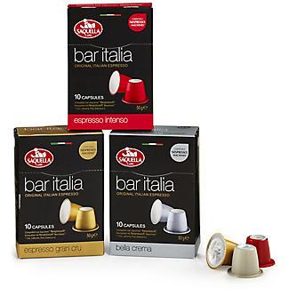 Saquella Bar Italia Coffee Pods Range