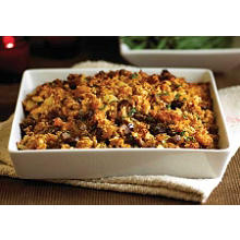 Füllung (für Geflügel oder Braten) aus Aprikosen und Maronen, auch als Beilage geeignet