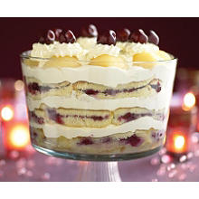 Black cherry & vodka trifle