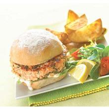 Liz Franklins Oriental Salmon Burgers