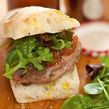 Wild Boar Burgers with Grasmere Gingerbread