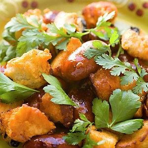 Warm Chorizo and Crouton Salad