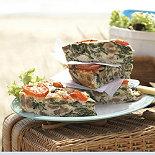 Baked Spinach & Mushroom Frittata