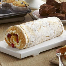 Lemon & Almond Roulade with Raspberries
