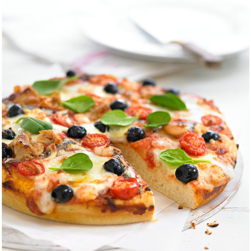 Deep Pan Seafood Pizza