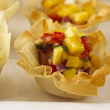 Thai Mango, Chilli & Lime Filo Cups