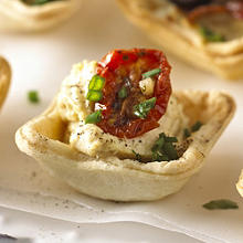 Hummus & Cherry Tomato Mini Tartlets