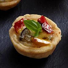 Roasted Veg & Goats Cheese Tartlets with Parmesan Pastry