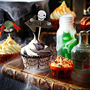 Halloween Orange Cupcakes