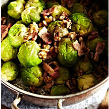 Buttered Sprouts with Bacon & Walnuts