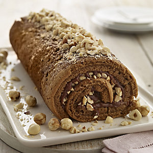 Coffee and Hazelnut Roulade