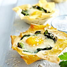 Eggs Florentine Tartlets