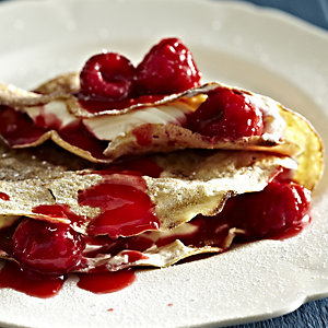 Raspberries and Cream Pancake Filling