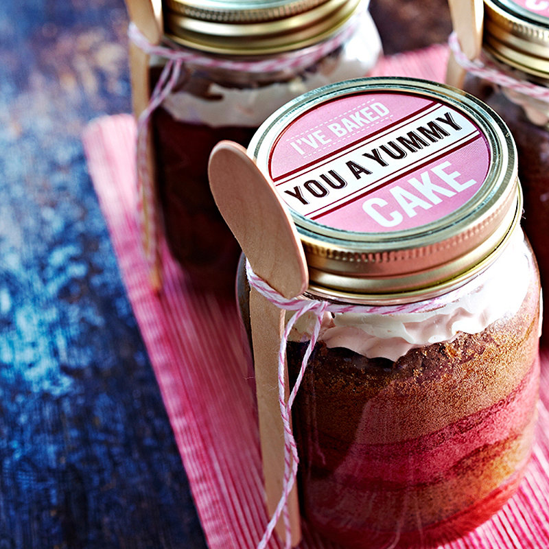 Cake In A Jar in Valentine recipes at Lakeland