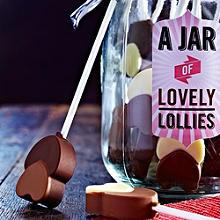 Chocolate Heart Lollies