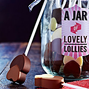 Chocolate Heart Lollies